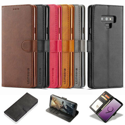 Luxury Leather Flip Case Magnetic Wallet Stand Cover For Samsung Galaxy S9 Note9