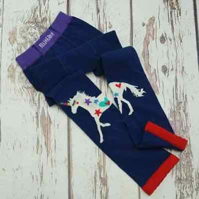 Girls Unicorn Navy Leggings - Blade and Rose perfect for Autumn-Spring 4,5,6,7