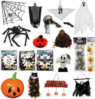 👻HALLOWEEN DECORATIONS Ghost Pumpkin Skull Spider Reaper Tinsel Inflatable👻Bat