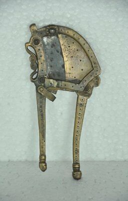 Old Brass Unique Solid Handcrafted Engraved Betel Nut Cutter / Sarota
