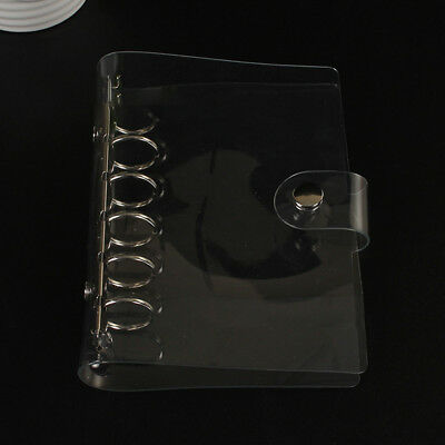 A5/A6 Transparent Loose Leaf Ring Binder Notebook Weekly Planner Diary Cover #WE