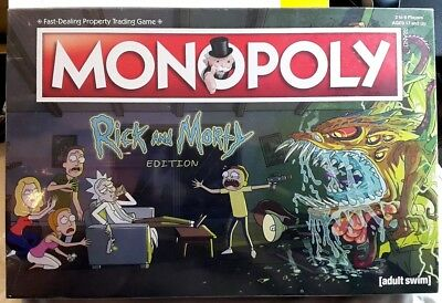 NEW & Sealed MONOPOLY Rick & Morty EDITION