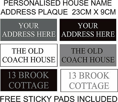 Personalised House Plaque Address Door Name Plastic Sign Plate Home Gate - TNR