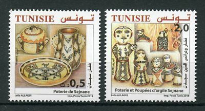 Tunisia 2018 MNH Sejnane Pottery & Clay Dolls 2v Set Cultures Traditions Stamps