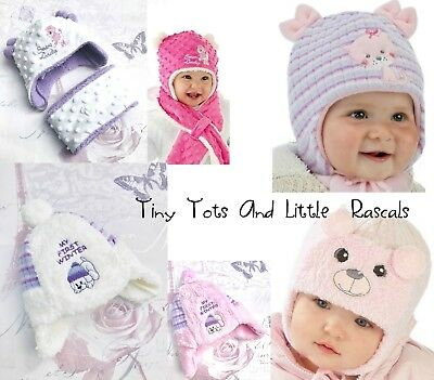 Baby Girls Infant Winter Hat Christening Babtism Occasion Size newborn - 24 mths