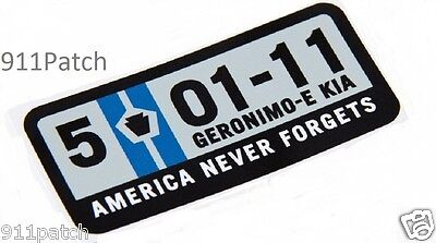 5-11 America Never 4gets Police Military Fire Rescue 1st Responder Decal Sticker
