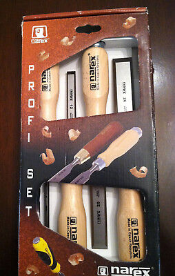 NEW NAREX CHISELS, Czech Republic 4 pc SET 6, 12, 20, 26 mm  Chisels TOOLS NRFB