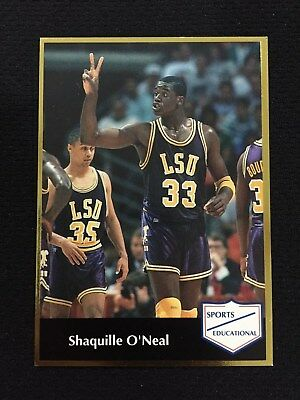 Shaquille Oneal Rookie Odd Ball 1992 Lsu College Sports Gold Rc Basketball Card