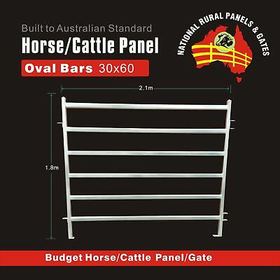 Horse  Panel 30x60 Oval Bars with Gate available for  Round Yard Cattle Panel