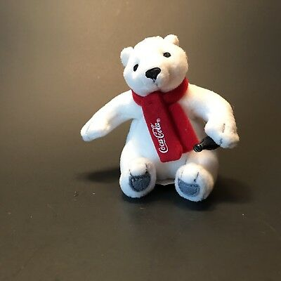 Coca Cola Polar Bear Plush Mini Toy Ornament 3.5 Inches