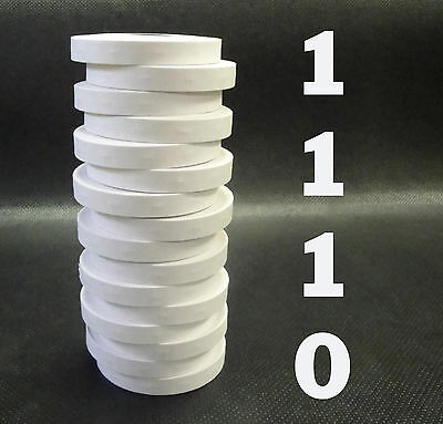 Labels for Monarch 1110 price gun WHITE, 2 sleeves=32 rolls, ink roller included