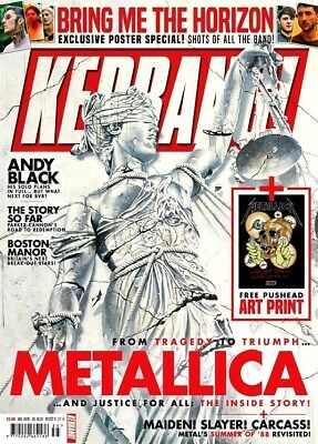 Kerrang Magazine #1737 September 2018 ~ Metallica ~ Bring Me The Horizon ~ New ~