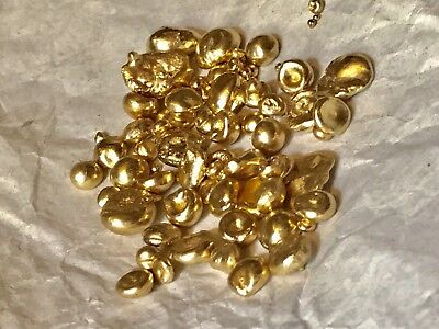 24-22k Solid Gold Nuggets 4grams
