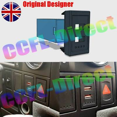 RED VW T4 Transporter Golf Passat Style USB Charger Dash Blank Switch Twin Dual