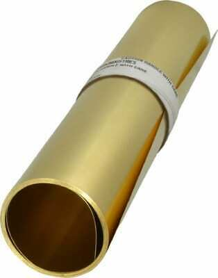 Made in USA 10 Ft. Long x 12 Inch Wide x 0.008 Inch Thick, Roll Shim Stock Brass