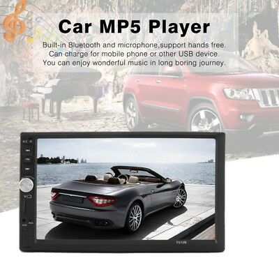 """7"""" Touch Screen Hands Free Double Din Car Stereo MP5 with Reversing Camera"""