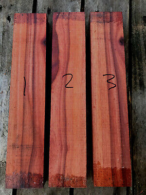 Bloodwood / satine knife scale blank / carving blank / cue splices turning blank