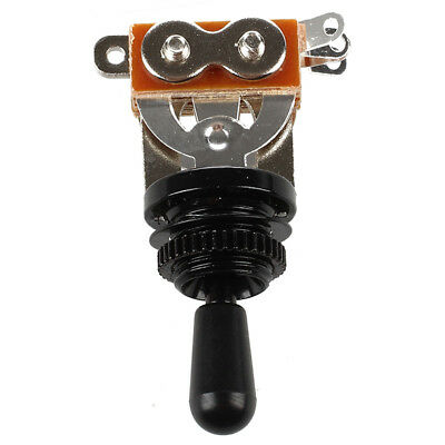 Black Tip 3 Way Toggle Switch Pickup Selector for Electric Guitar V4Q4 MT