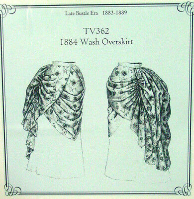 Old West 1884 style Overskirt sewing pattern uncut by Truly Victorian TV362