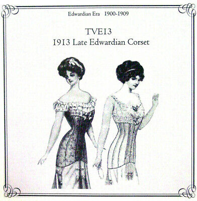 SEWING PATTERN FOR 1913 Late Edwardian Corset Truly Victorian TVE13 ...