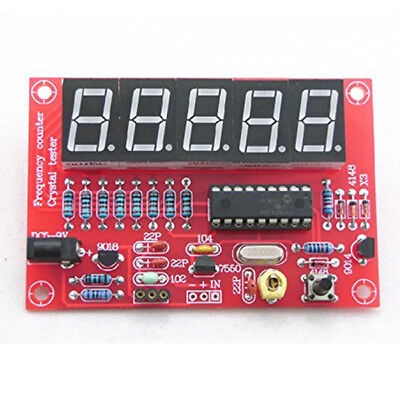 DIY Kits 1Hz-50MHz Crystal Oscillator Frequency Counter Meter Z9A8 MT