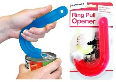 J Ring Pull Can Opener Tin Jar Kitchen Aid Gripper Mobility Disability Elderly