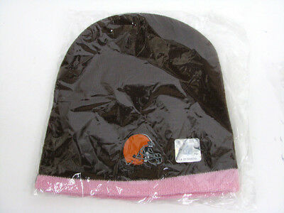 351d138b816 ... free shipping cleveland browns brown pink knit cap hat game beanie nfl  officially licensed 6c18a cb6ba