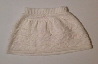 Young Dimension Baby Girls White Knitted Skirt 12-18 Months New Without Tags