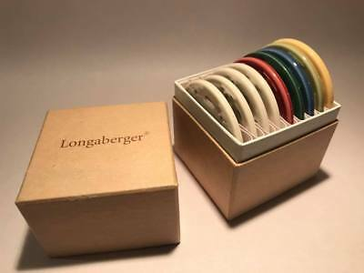 Longaberger Pottery Color Selector Sample Plates