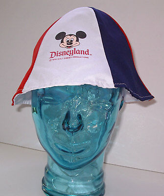 25d969f917166 Disneyland Vintage Adult Floppy Bucket Hat Cap Mickey Mouse Red White Blue