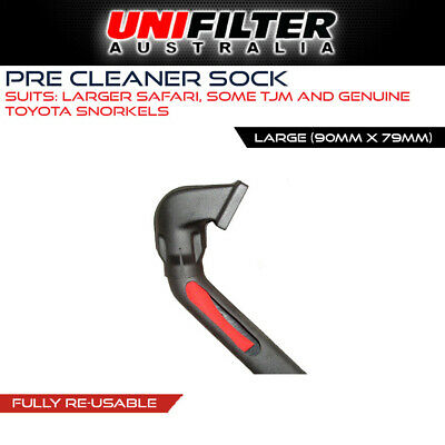1 X UNIFILTER Safari Snorkel (OD 90mm ID 79mm) Droopie Pre Cleaner Filter