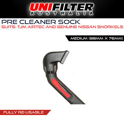 1 X UNIFILTER Safari Snorkel (OD 88mm ID 76mm) Droopie Pre Cleaner Filter
