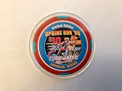 ***limited Edition*** 1998 Spring Run Edgewater $10 Poker Chip