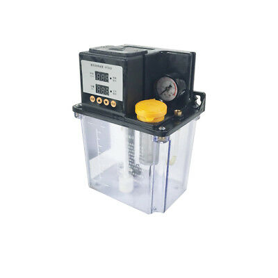 110V 2L Lubrication Pump CNC Digital Electronic Timer Auto Oiler Double Display