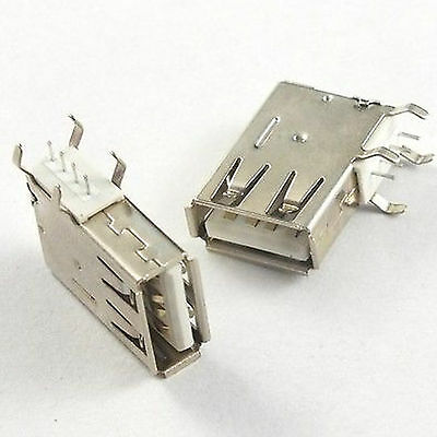 5pcs Vertical Type A 4 Pin USB Connector Socket Female PC Laptop Computer DIP