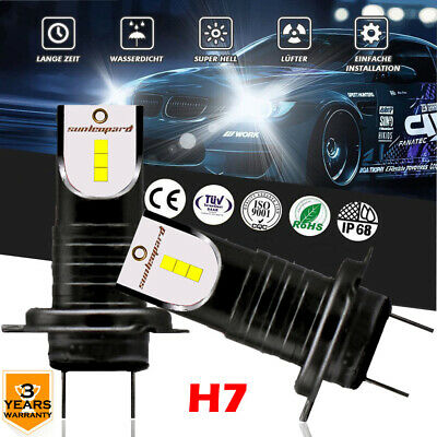 110W CSP Chip H7 LED Headlight Kit 6000K White Bulbs 30000LM 6000K Plug and Play