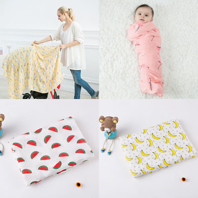 Newborns Baby Blanket Super Soft Bamboo Cotton Muslin Baby Swaddle Wrap Infant