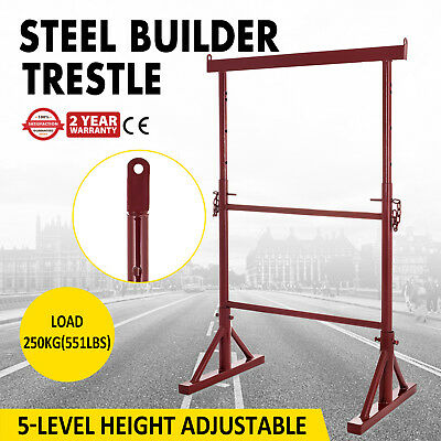 5 Level Height Adjustable Steel Builder Trestle Powder-Coated Extendable Painter
