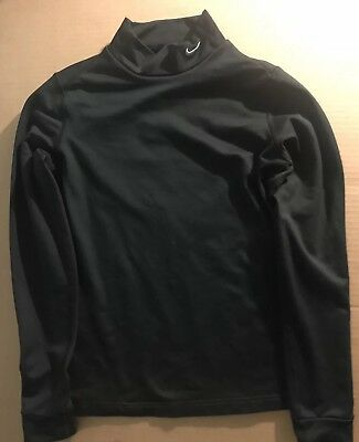 Nike Fit Dry Womens Black Mock Turtleneck Size Medium PRE-OWNED FREE SHIPPING