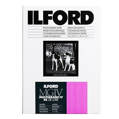 Ilford Multigrade IV 3 4/12ft Rc Deluxe Glossy 8x10in 100 Sheet 20x25