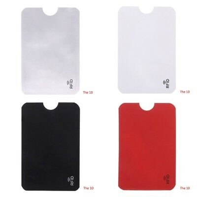 10PCS Credit Card Protector Secure Sleeve RFID Blocking ID Holder Foil Shield