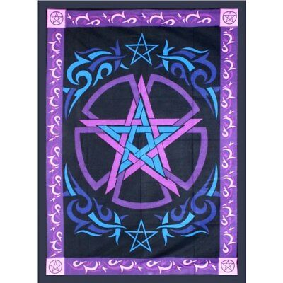 "Celtic Pentacle Tapestry 58"" x 82"" 100% Cotton"
