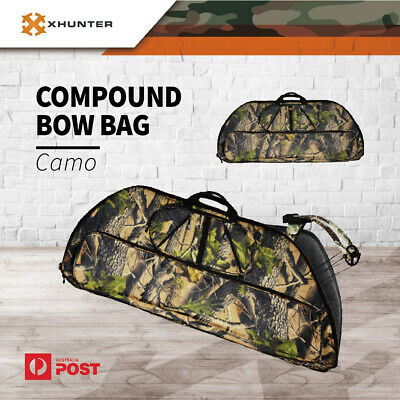 Xhunter Ultimate Camo Compound Bow Bag 2 Layer Archery Bag W/ Arrow Holder
