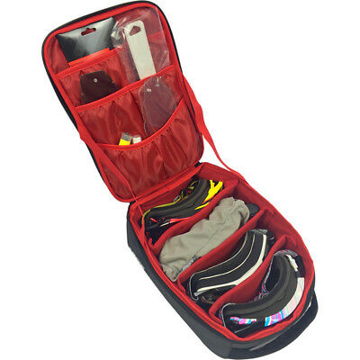Ballards NEW Dirt Bike Premium Red Travel Luggage Goggle Bag