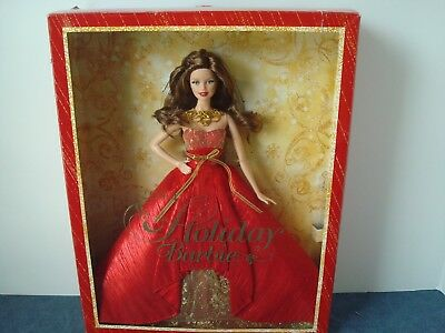 Holiday Barbie 2014 Collector Edition  BRUNETTE Doll NIB Exclusive Red Box