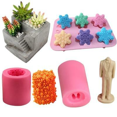 DIY Cement Flowerpot Silicone Mold Ceramic Clay Craft Casting Concrete Cup Molds
