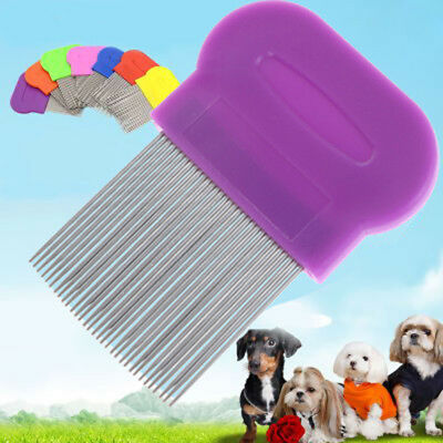 Stainless Steel Dog Cat Toothed Flea Removal Cleaning Brush Grooming Comb AU