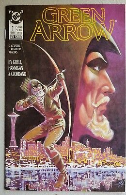 GREEN ARROW #1 (Feb 1988, DC Comics)VF Grell Hannigan & Giordano
