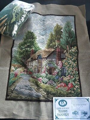 BRAND NEW QUEEN ADELAIDE Trammed TAPESTRY CANVAS & WOOL No. A3733