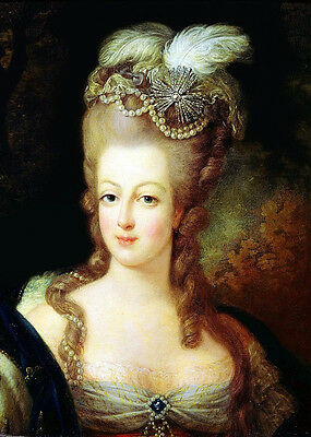 Portrait of Marie Antoinette Handcraft By Artist Oil Painting On Canvas Signed